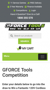 Win a 120v Cordless Blower From Gforce Tools (prize valued at $499)
