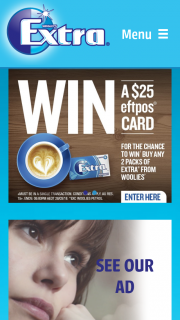 Woolworths Wrigleys – Win One of 100 $25 Eftpos Vouchers Daily (prize valued at $55,000)