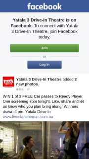Yatala 3 drive-in theatre – Win 1 of 3 Free Car Passes to Ready Player One Screening 7pm Tonight