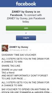 Zaney by Guney – Win $40 Voucher (prize valued at $40)
