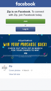 ZipPay – Win Back Your Purchase (prize valued at $8,000)