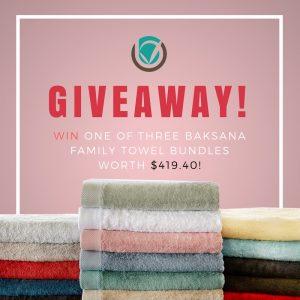 Bamboo Village – Win 1 of 3 Baksana family towel bundles valued at $419 each