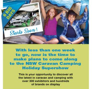 Caravan and Camping Industry Association of NSW – Caravan Camping Holiday Supreshow – Win 1 of 4 prizes valued at up to $73,990