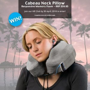Global Travel Products – Win a Cabeau Evolution Memory Foam Neck Pillow