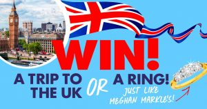 Pacific Magazines – Nexus Royal Wedding 2018 – Win a major prize of a 10-day trip for 2 to UK OR 1 of 8 Diamond rings