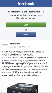 Airstream – Win a Free Izone Lighting Kit of Your Choice