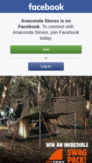Anaconda Stores – Win Your Own Incredible Oztent Swag Pack (prize valued at $1,129)
