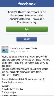 Annie's BathTime Treats – Win a Body Bath Hamper (prize valued at $90)