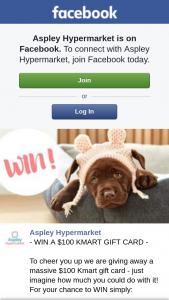 Aspley hypermarket – Win a $100 Kmart GiftundefinedCardundefined