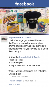 Bayside Bait & Tackle – Win a Prize Pack (prize valued at $80)