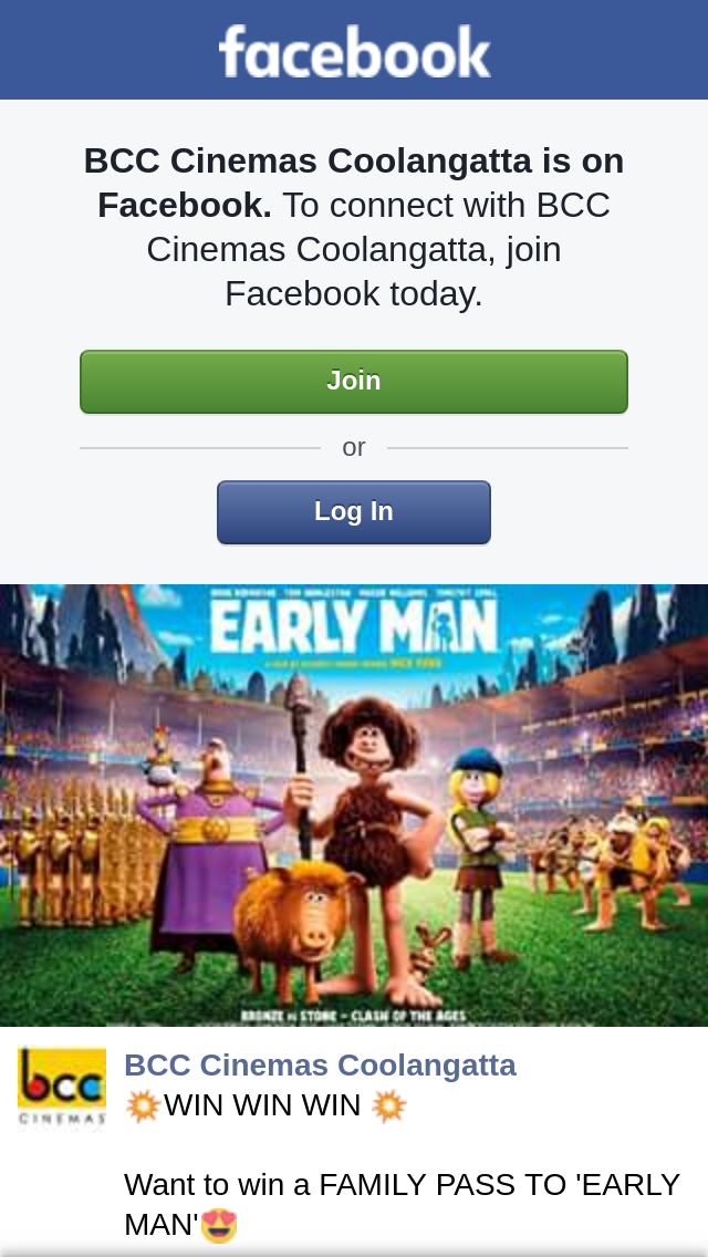 BCC Cinemas Coolangatta – Win a Family Pass to 'early