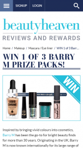 Beauty Heaven – Win 1 of 3 Barry M Prize Packs