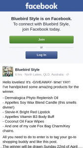 Bluebird Style – Win a Beauty Pack