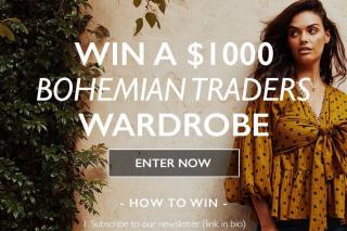 Bohemian Traders – Win a $1000 Bohemian Traders Wardrobe (prize valued at $1,000)