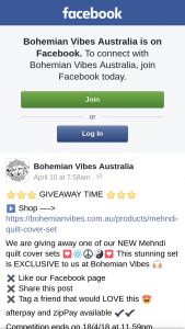 Bohemian Vibes Australia – One of Our New Mehndi Quilt Cover Sets