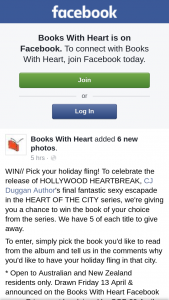 Books With Heart Pick your holiday fling – Win The Book of Your Choice From The Series
