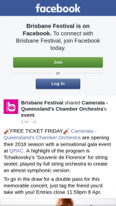 Brisbane Festival – Win a Double Pass to See Camerata at Qpac