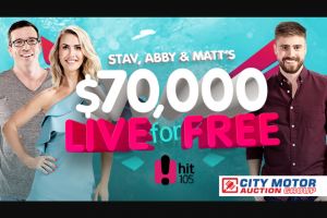 Brisbane Hit105FM Stav – Win The Major Prize (prize valued at $70,000)