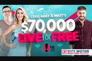 Brisbane Hit105FM Stav – Win The Major Prize (prize valued at $70,000)