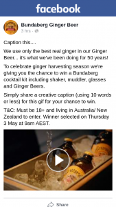 Bundaberg Ginger Beer – Win a Bundaberg Cocktail Kit Including Shaker