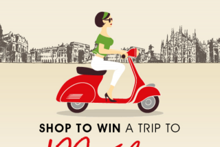 Burnside Village – Win a Trip to Milan (prize valued at $6,868)