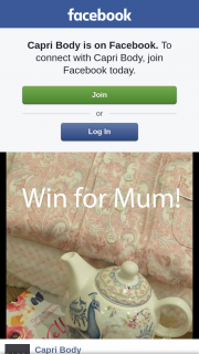 Capri Body – Win Mum a Dressing Gown and Pj's of Her Choice (prize valued at $400)