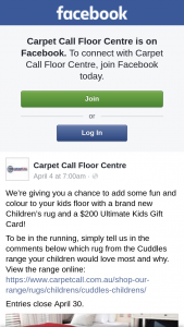 Carpet Call Floor Centre – Win a Children's Rug and $200 Ultimate Kids Gift Card