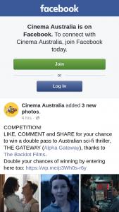Cinema Australia – Win a Double Pass to Australian Sci-Fi Thriller