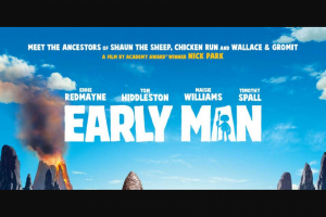 Community News – Win 1 of 10 Double Passes to Early Man