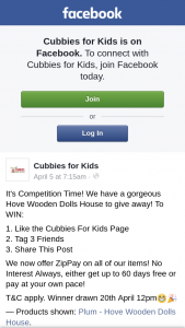 Cubbies for Kids – Win a Hove Wooden Doll House