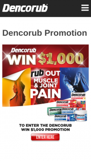 Dencorub – Win $1000.00 Each Week (prize valued at $10,000)