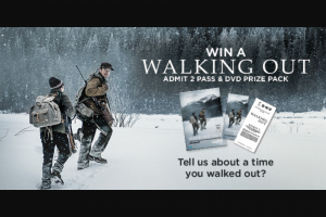 Dendy – Win a Walking Out Admit 2 and DVD Prize Pack to Celebrate The Film's Release