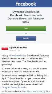Dymocks – Win a Signed Copy of The Shepherd's Hut