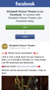 Elizabeth Picture Theatre – Win 1 of 5 Double Passes to I Feel Pretty