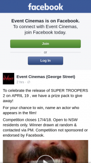 Event Cinemas George Street – Win a Super Troopers2 Pack Nsw Only