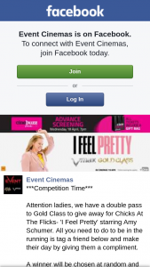 Event Cinemas Springfield – for Chicks at The Flicks- 'i Feel Pretty' Starring Amy Schumer