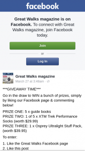 Great Walks – Win a Bunch of Prizes