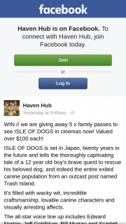 Haven – // We Are 5 X Family Passes to See Isle of Dogs In Cinemas Now