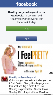 healthybodyandbeyond – Win a Double Pass to I Feel Pretty