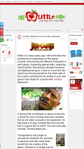 Hip Little One – Win 1 of 3 Jumanji Welcome to The Jungle DVDs