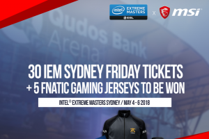 IEM tickets and jerseys – Win Iem Epic Prizes With Msi (prize valued at $1)