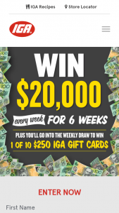 IGA – Win $20000 Weekly