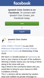 Ipswich Civic Centre – #free #tickets to See 2018 Melbourne International Comedy Festival