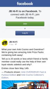 JB HiFi – Win Anki Cozmo Prize Pack