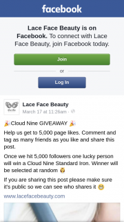 Lace Face Beauty – Win a Cloud Nine Standard Iron