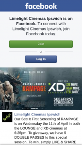 Limelight Cinemas Ipswich – Win One of Five Double Passes to Rampage Special Screening