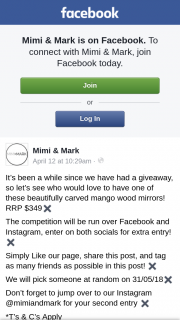 Mimi & Mark – Win a Beautifully Carved Mango Wood Mirrors (prize valued at $349)