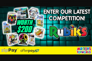Mr Toys Toyworld – Win this Awesome Rubik's Prize Pack (prize valued at $200)