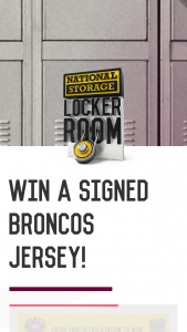 National Storage Locker Room – Win an Official 2018 Framed Jersey and Signed FooTBall