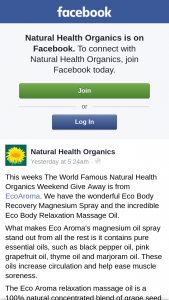 Natural Health Organics – Is From Ecoaroma